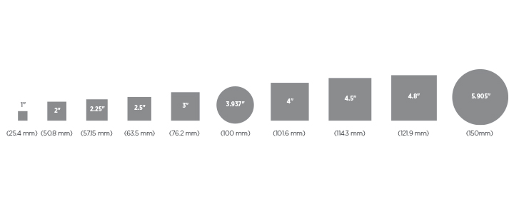 Thin Film Substrate Size Chart