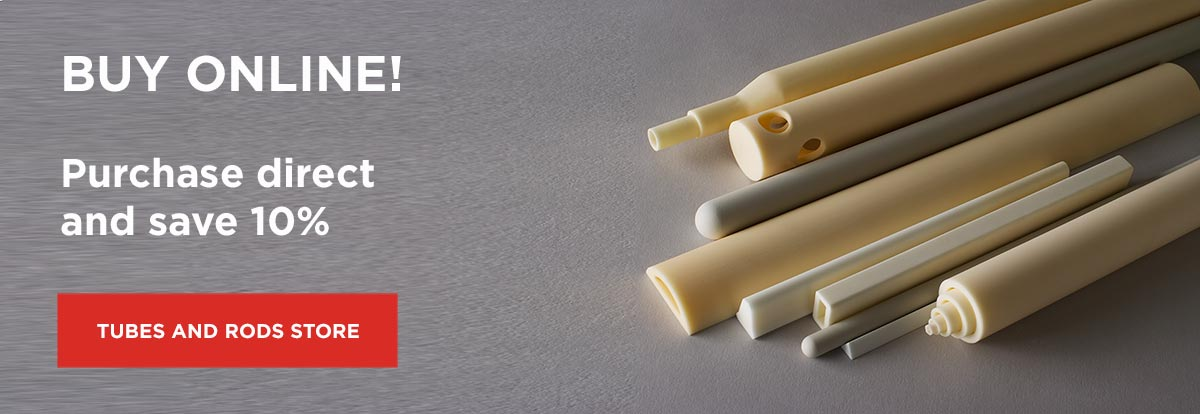 Ceramic tubes and rods online store