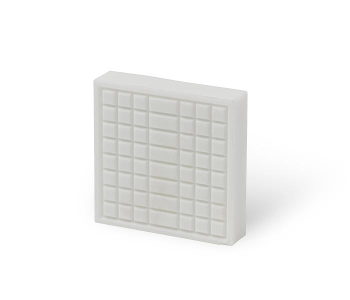 Patterned ceramic wear component tile