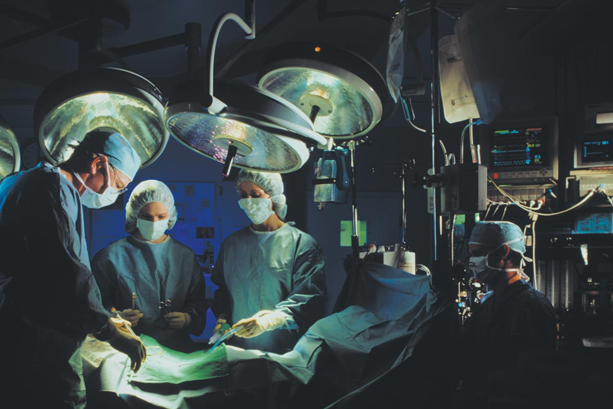 medical surgery scene with Coorstek medical devices