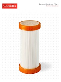 Ceramic Membrane Filters Technical Data Sheet