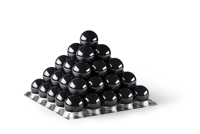 Pyramd of Cerbec Balls made from silicon nitride.