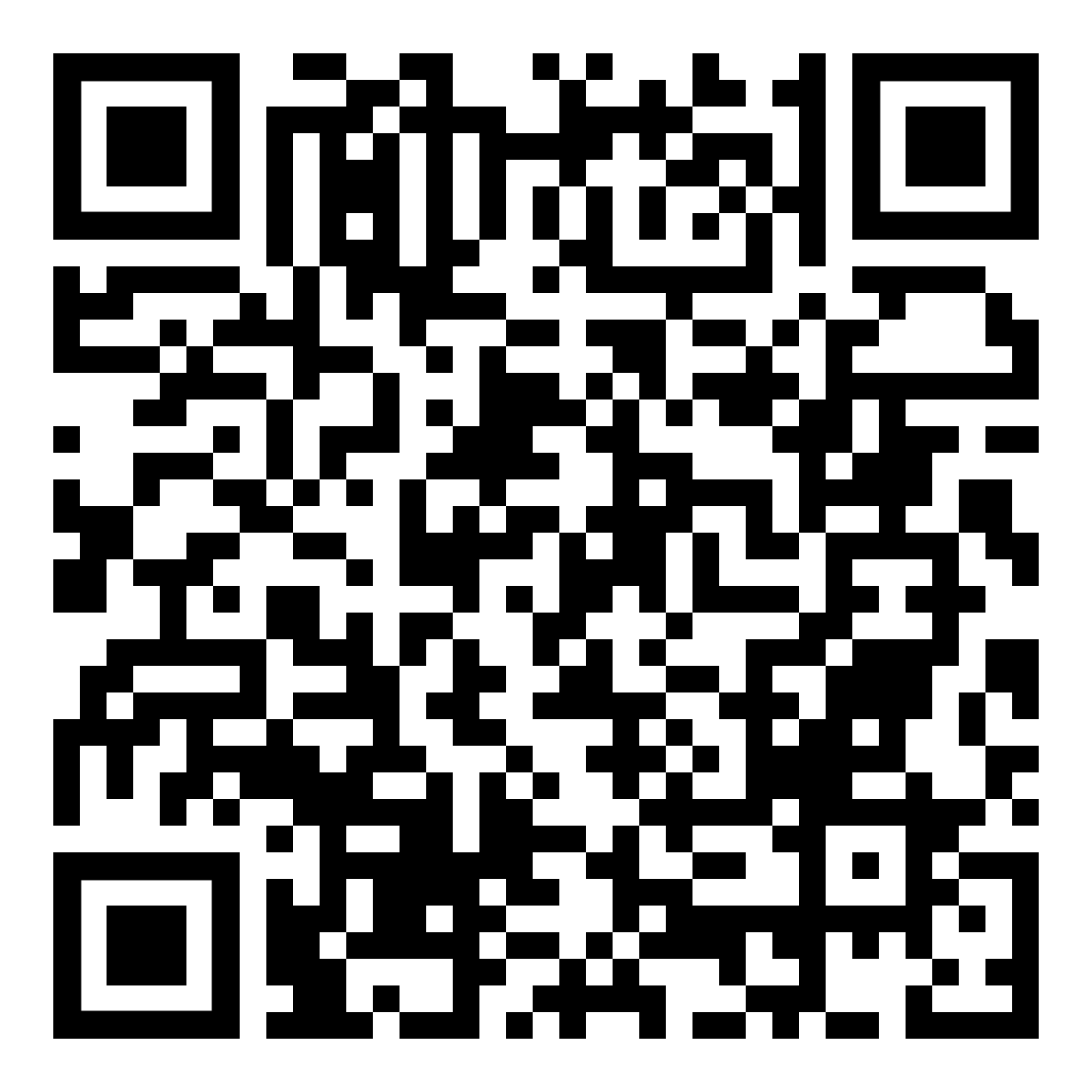 QR-Code for Flat Panel Display Brochure
