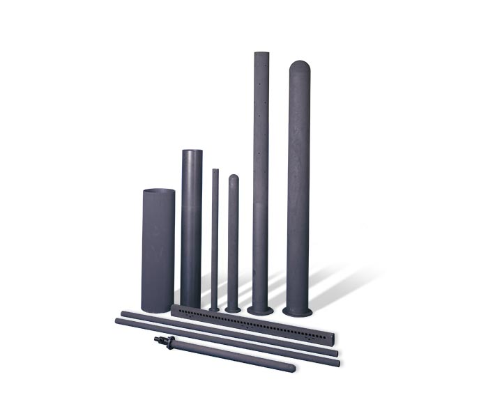 Group of sintered silicon nitride tubes and rods for aerospace propulsion applications.
