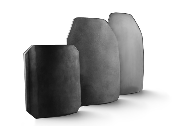 Armor shields made with CoorsTek technical ceramics.