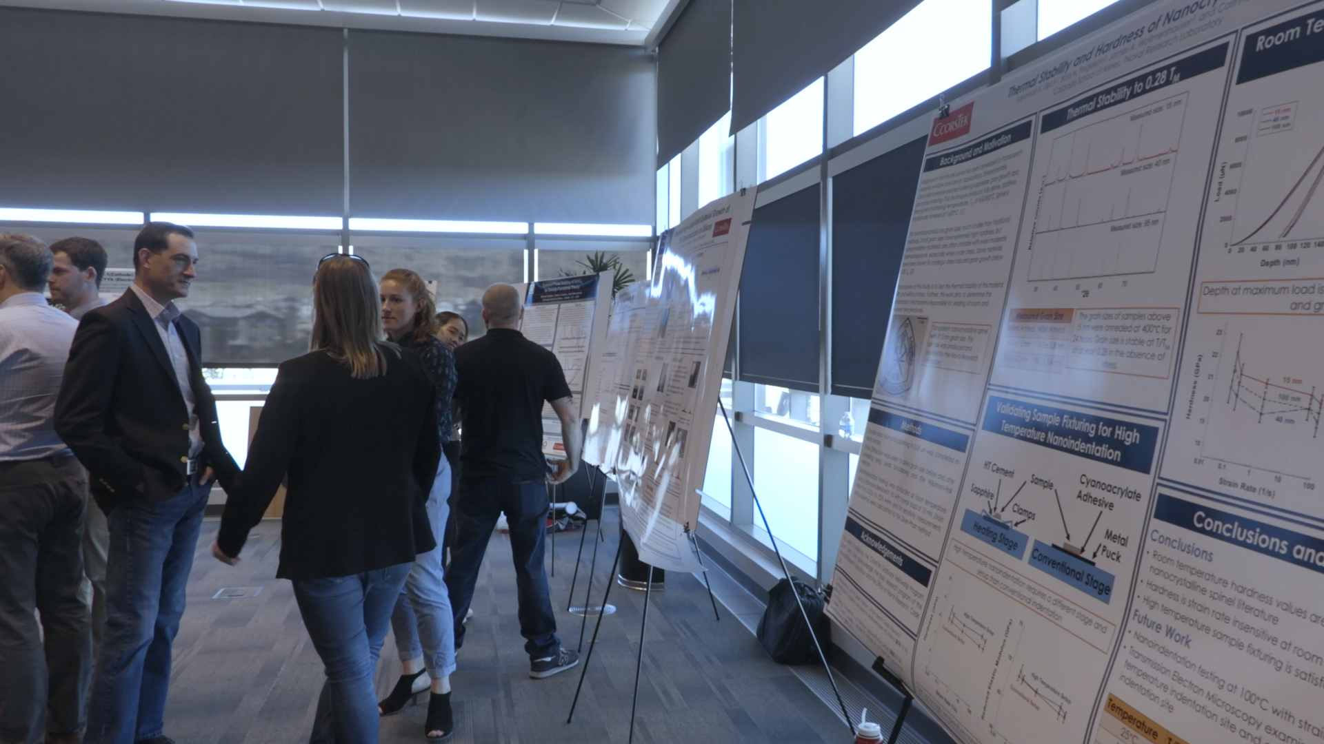 Research posters for research projects at the Colorado School of Mines and CoorsTek Fellows