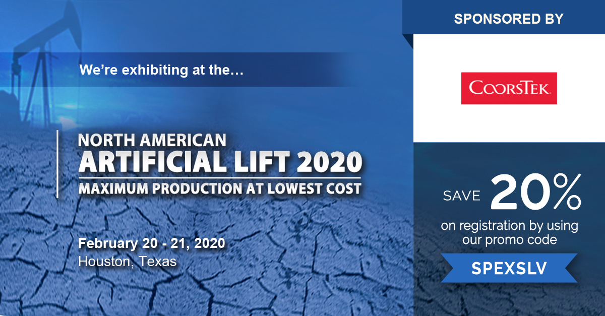 North American Artificial Lift 2020 logo with the 20% sponsor registration discount code: SPEXSLV.