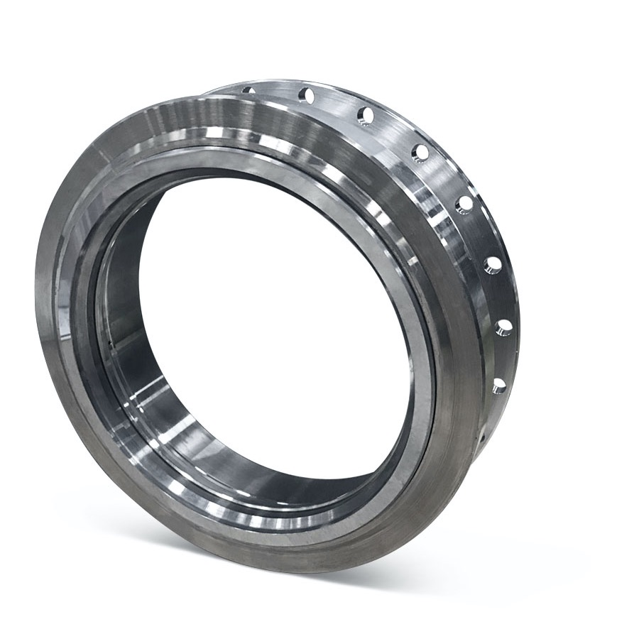 Tungsten carbide in metal stator.